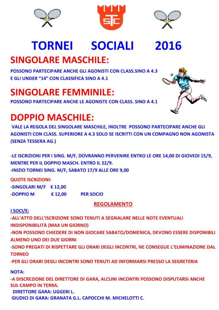 Torneo Sociale 2016