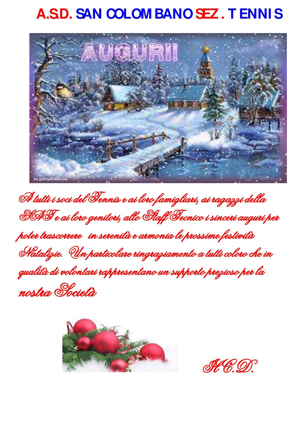 Auguri Di Natale Tennis.Auguri Di Buon Natale Asd San Colombano Tennis